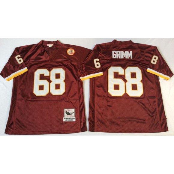 Washington Redskins Russ Grimm Red Jersey
